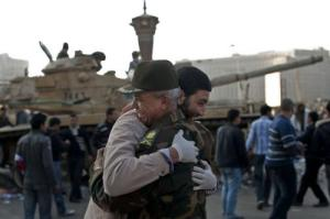 Egyptian man embraces the military